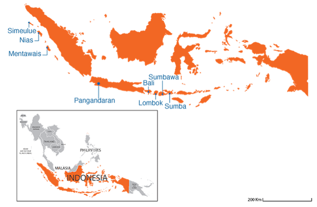Indonesia  - Country map image