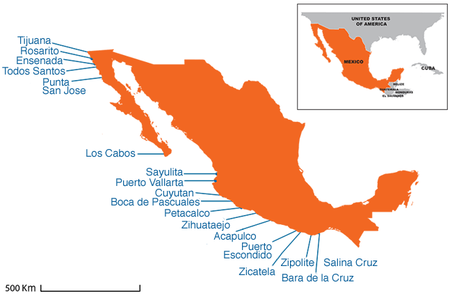 Mexico - Country map image