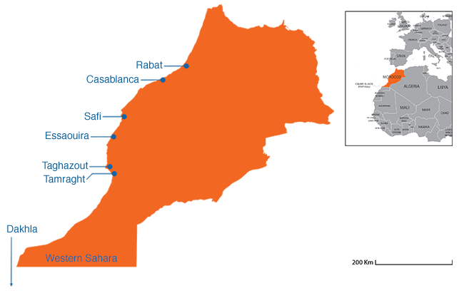 Morocco - Country map image