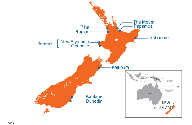 New Zealand - Country map image