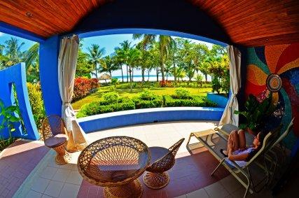 Beachfront Villa view