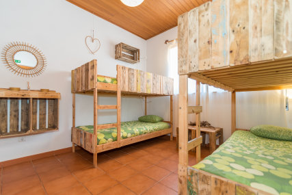 One of our dorms, max 4 persons. perfect for a group or single travelers.