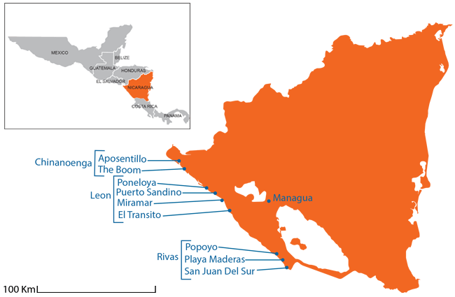 Nicaragua - Country map image
