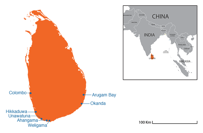 Sri Lanka  - Country map image
