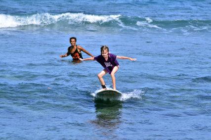 Kids surf lesson