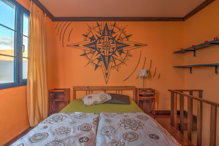 It's a comfortable room with ensuite bathroom and a double bed.