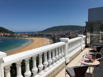 Private room with en-suite bathroom and balcony with the best views in the city.